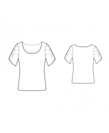 Custom-Fit Sewing Patterns - Scoop-Neck Short-Sleeved Top
