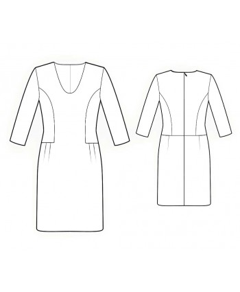 Custom-Fit Sewing Patterns - Scoop-Neck, Drop-Waist Dress