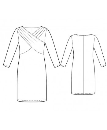 Custom-Fit Sewing Patterns - Cross Over Draped Bodice Dress