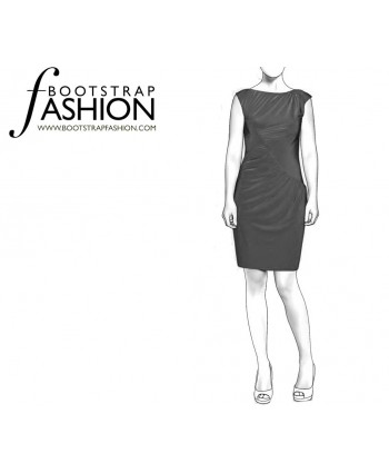 Custom-Fit Sewing Patterns - Draped Knit Dress