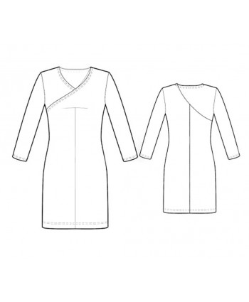 Custom-Fit Sewing Patterns - Faux Wrap Knit Dress