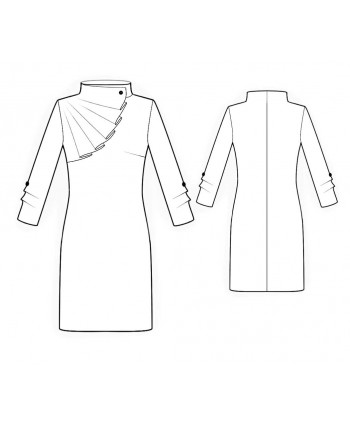 Custom-Fit Sewing Patterns - Long-sleeved Dress With Rruffle