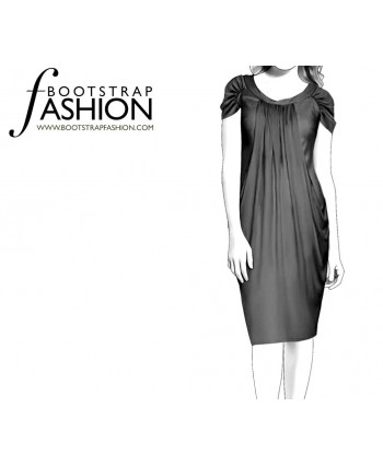 Custom-Fit Sewing Patterns - Draped Layered Dress