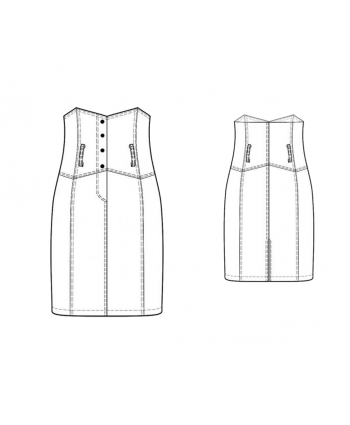 Custom-Fit Sewing Patterns - High-Waist Corset Pencil Skirt