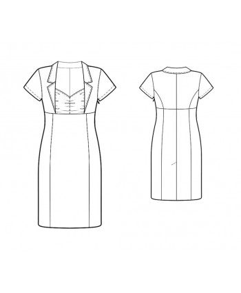 Custom-Fit Sewing Patterns - Short-Sleeved, Empire-Waist Dress
