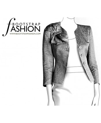 Custom-Fit Sewing Patterns - Jacket with Shoulder Ruffle