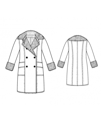 Custom-Fit Sewing Patterns - Double Breasted Jacket with Large Collar