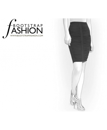 Custom-Fit Sewing Patterns - Ruched Front Skirt