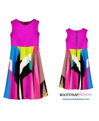 Custom-Fit Sewing Patterns - Dress For Girls With Exposed Zipper