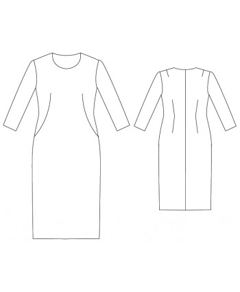 Custom-Fit Sewing Patterns - Basic Block Dress with French Darts