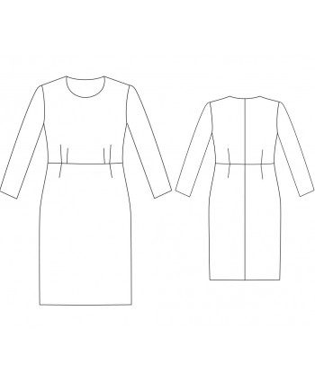 Custom-Fit Sewing Patterns - Basic Block Dress with Darts at The Waist
