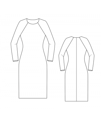Custom-Fit Sewing Patterns - Raglan Sloper (Basic Block) For Knits