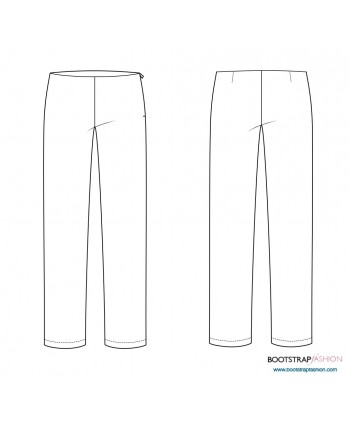 CustomFit Sewing Patterns - Pants Sloper With Back Dart For Knits