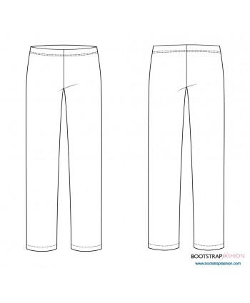 CustomFit Sewing Patterns - Pull-on pants sloper for knits