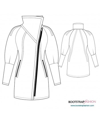 Exclusive! Svita Custom-Fit Sewing Patterns - Quilted Stretch Coat. Includes Step-by-Step Illustrated Sewing Instructions.