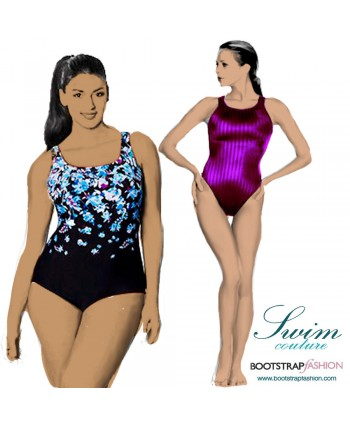 Exclusive! Custom-Fit Swimwear: Plain One-piece Swimsuit. Includes Step-by-Step Illustrated Sewing Instructions