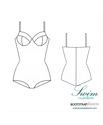 Exclusive! Custom-Fit Swimwear: One-piece Underwire Swimsuit. Includes Step-by-Step Illustrated Sewing Instructions