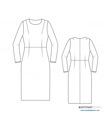Custom-Fit Sewing Patterns - Sloper (Basic Block)  Woven with Sleeve Dart