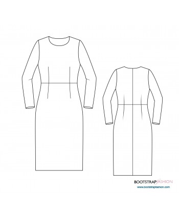 Custom-Fit Sewing Patterns - Sloper (Basic Block)  Woven with Waist Darts