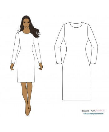 New and Improved Fitting Pattern! Exclusive CustomFit Sewing Patterns - Sloper (Basic Block) For Medium Stretch Knits