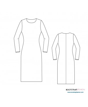 Custom-Fit Sewing Patterns - Sloper (Basic Block) For Medium Stretch Knits