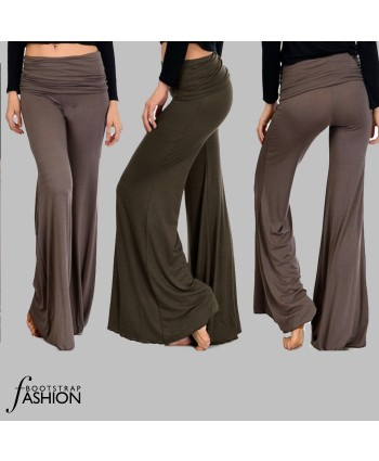 Exclusive! Easy Made-To-Fit You 3-in-One Pull-On Knit Palazzo Pants With Photo Sewing Instructions. With or without lining.