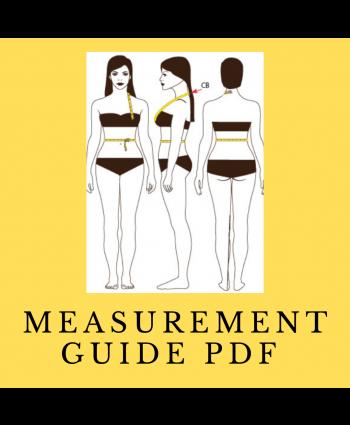 FREE PDF Custom Measurements Printable/Fillable Guide