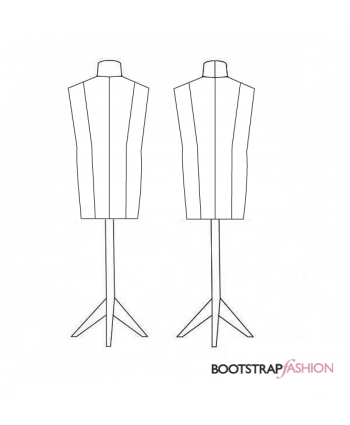 Exclusive! Custom-fit DIY Stuffed Men's Mannequin Dress Form Sewing Pattern. Includes a Step-by-Step Photo Guide.