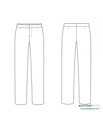 CustomFit Sewing Patterns - Woven Pants Sloper with Waistband