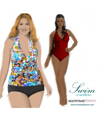 Exclusive! Custom-Fit Swimwear: 3-piece Tankini Set. Includes Step-by-Step Illustrated Sewing Instructions.