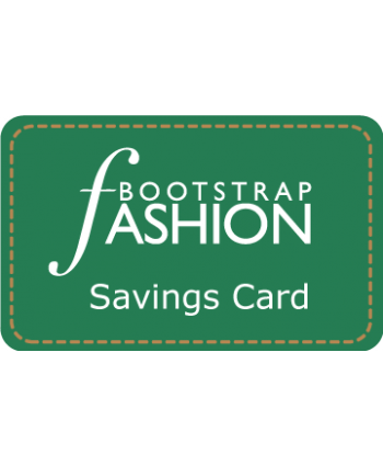Bootstrap Fashion Savings Card
