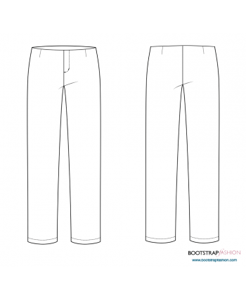 CustomFit Sewing Patterns - Classic Pants Sloper With Facing