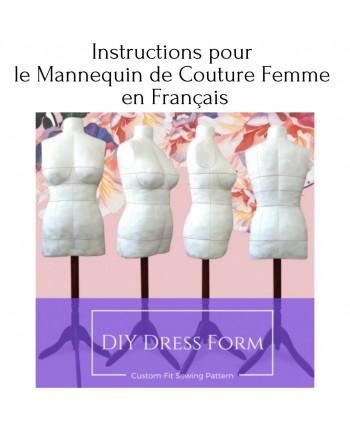 Instructions pour le Mannequin de Couture Femme en Français