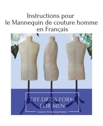 Instructions pour le mannequin de couture homme en français