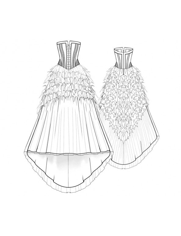 Fashion Designer Sewing Patterns - Bridal Couture Strapless Gown