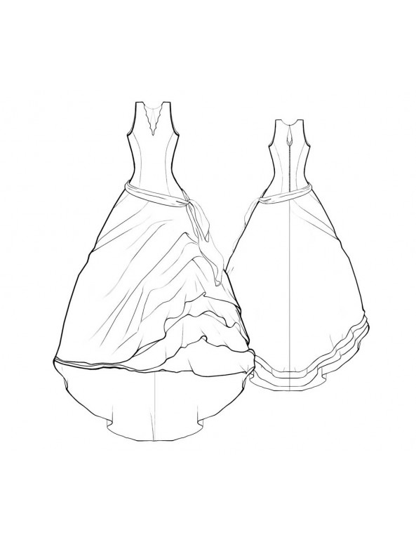 Fashion Designer Sewing Patterns - Bridal Halter Gown