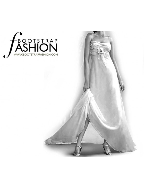 Fashion Designer Sewing Patterns - Bridal Chiffon Gown