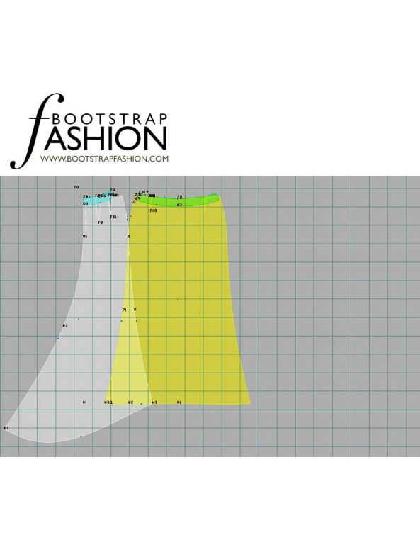 Fashion Designer Sewing Patterns - Bridal Skirt With Sweep Style Train
