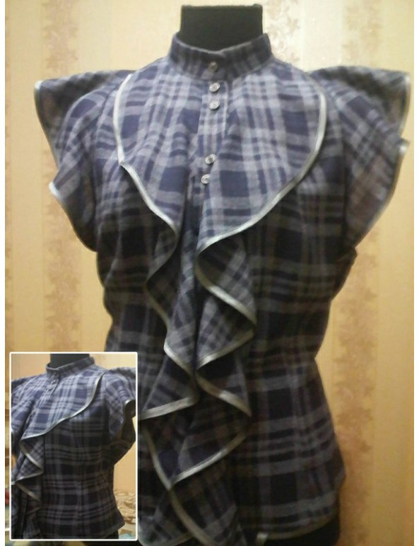 Fashion Designer Sewing Patterns - Ruffle Front Blouse