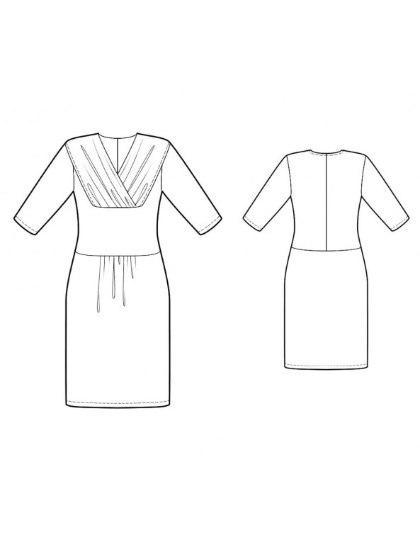 Fashion Designer Sewing Patterns - Draped Neck Knit Dress