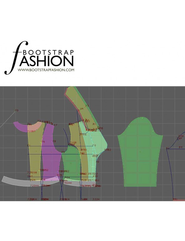 Fashion Designer Sewing Patterns - Cropped Fitted Jacket With Wide Notched Lapels