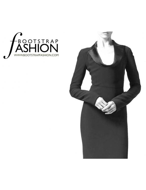 Fashion Designer Sewing Patterns - Draped Lapel Dress