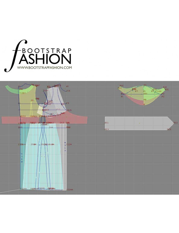 Fashion Designer Sewing Patterns - Capped Sleeve V-Neck Dress