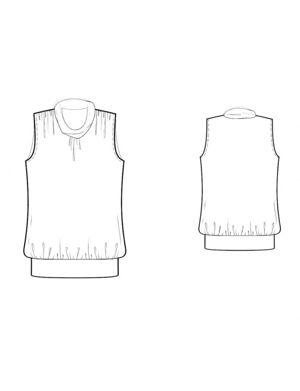 Fashion Designer Sewing Patterns - Sleeveless Gathered-Waist Blouse