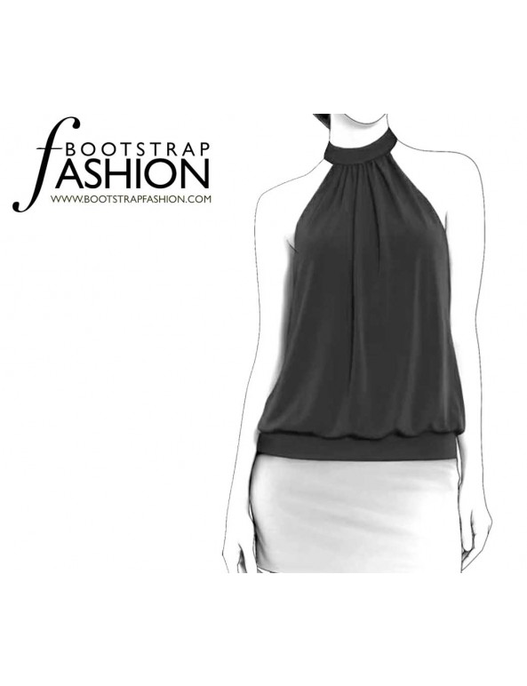 Fashion Designer Sewing Patterns - Halter Blouson Top