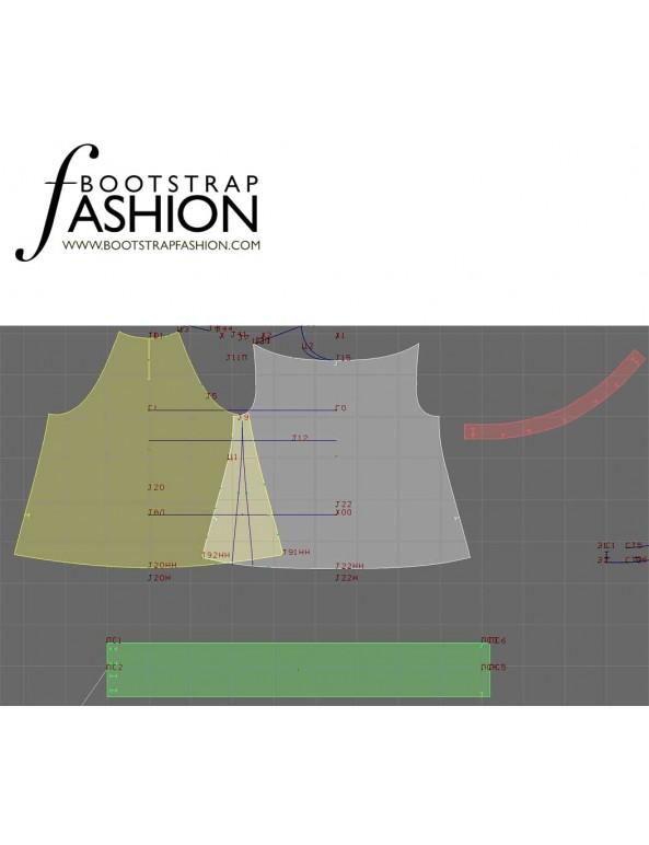 Fashion Designer Sewing Patterns - Halter Blouson Top