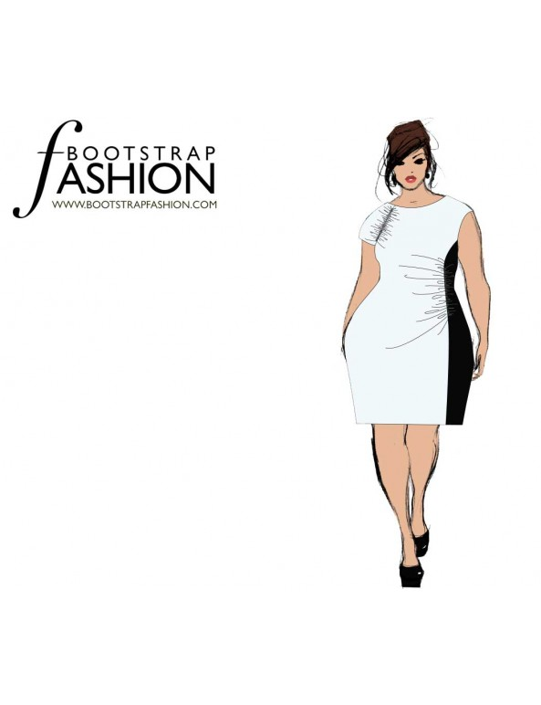 Fashion Designer Sewing Patterns - Asymmetrical Draped Knit Dress