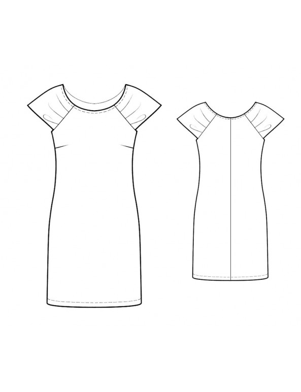 Fashion Designer Sewing Patterns - Ruched Sleeves Knit Dress