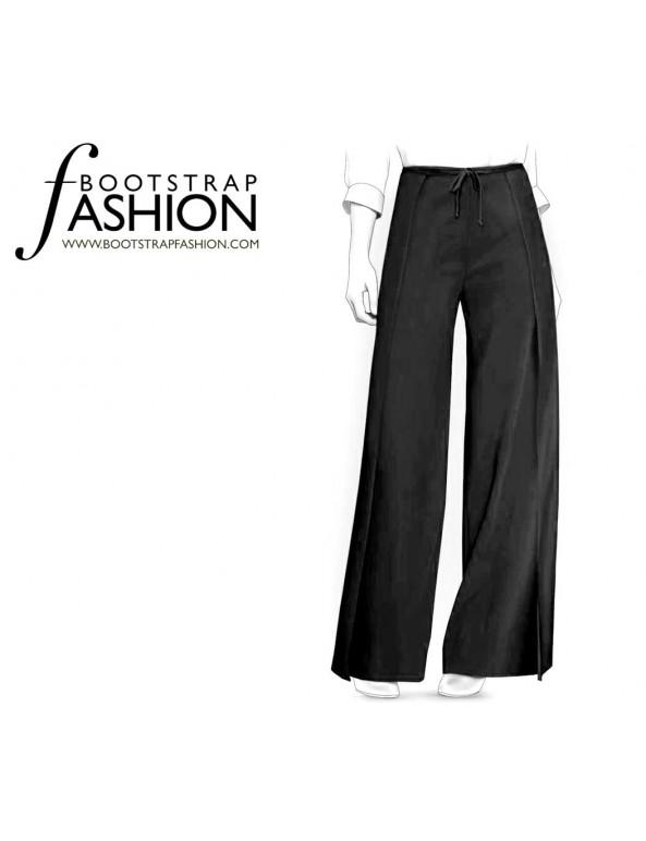 Fashion Designer Sewing Patterns - Wrap Palazzo Pants