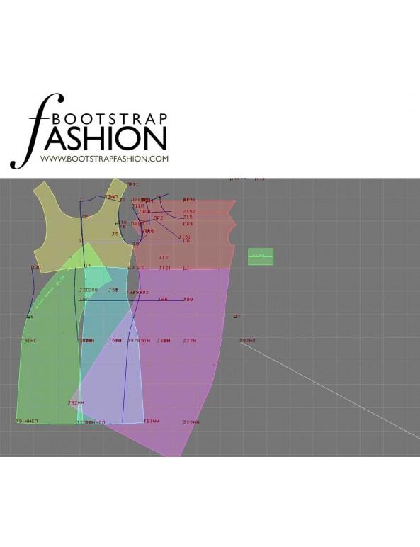 Fashion Designer Sewing Patterns - Tank Style Cowl Neck Straight Knit Dress
